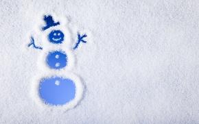 Обои winter, snow, merry, christmas, снеговик, снег, зима