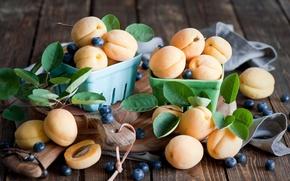 Картинка ягоды, абрикосы, фрукты, голубика