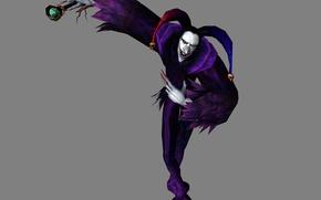Картинка урод, демон, когти, черепа, серый фон, Devil May Cry, шут, Jester