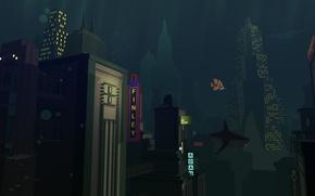 Картинка город, rapture, bioshock, подводный, восторг