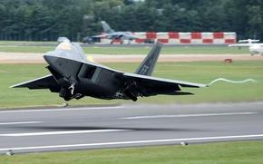 Картинка истребитель, малозаметный, многоцелевой, F-22 Raptor