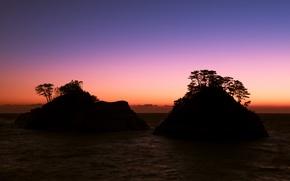 Картинка пейзаж, ночь, Japan, Nishiizu-cho, Shizuoka Prefecture