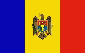 Обои Молдова, Moldova, Флаг, Герб