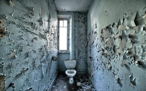Картинка стены, окно, туалет