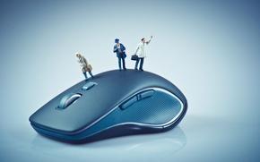 Картинка blue, small dolls, wireless mouse