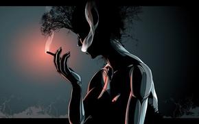 Обои дым, Вектор, сигара