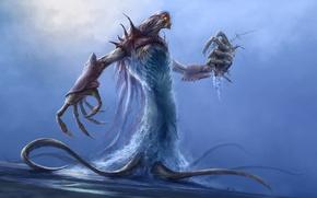 Картинка демон, морской, water colossus
