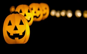 Картинка праздник, тыквы, Halloween