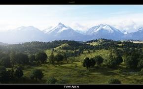 Картинка лес, горы, tumladen