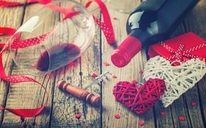 Картинка любовь, вино, сердце, love, heart, romantic, Valentine's Day