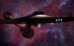 Картинка stars, spaceship, charting the nebula