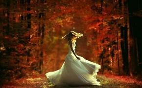 Обои танец, платье, невеста