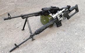 Картинка СВД, пулемёт Калашникова модернизированный, круто, ПКМ, снайперская винтовка Драгунова