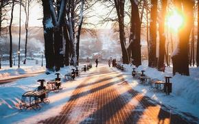 Обои Россия, парк, зима, Russia, Калуга, Kaluga, город