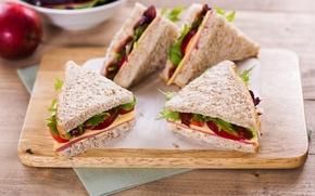 Обои доска, бутерброд, сэндвич