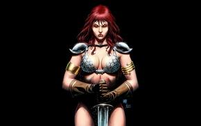 Картинка Women, Comics, Red Sonja, redheads