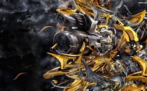 Обои transformers, bumblebee, робот, трансформеры