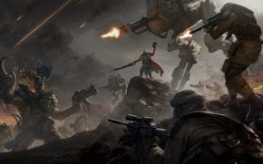 Картинка война, битва, Warhammer, Warhammer 40k, empire, orks