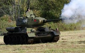 Картинка танк, советский, средний, Т-34-85