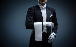 Картинка man, elegant, uniform, butler