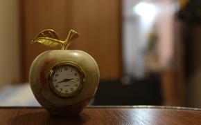 Картинка часы, яблоко, quartz