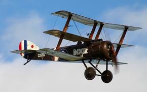 Картинка войны, мировой, времён, Первой, Sopwith Triplane, истребитель-триплан