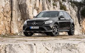 Обои черный, Mercedes-Benz, внедорожник, мерседес, AMG, Black, X253, GLC-Class