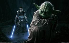 Обои Световые Мечи, The Force Unleashed 2, Йода, Star Wars