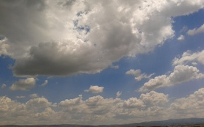 Картинка поле, небо, облако