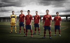Обои небо, трава, villa, xavi, casillas, silva, spain team, spain national team hq photo, зборная испании, ...