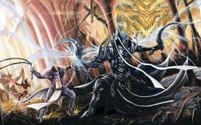 Картинка Diablo 3, wizard, crusader, Malthael, Reaper of Soul