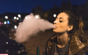 Картинка smoke, night, face, perfect, look, body, gilr, hookan
