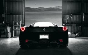 Картинка car, dark, Ferrari, 458, Italia