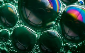 Картинка пузыри, green, rainbow, bubbles, soap, Soap Bubble Rainbows