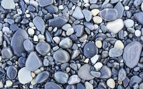 Обои галька, серая, текстура, камни