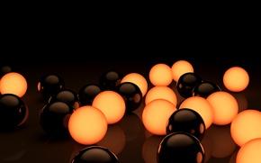 Картинка шарики, рендер, ball