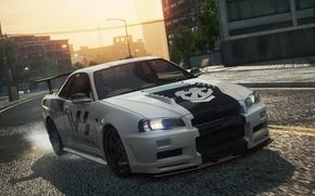 Картинка Nissan, 2012, Need for Speed, nfs, Skyline, R34, Most Wanted, нфс, NFSMW, GTRVSpecII