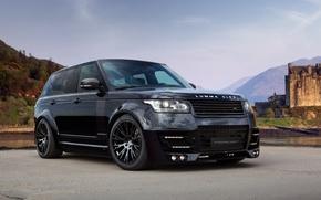 Картинка Land Rover, Front, Lumma Design, Black, Range Rover, Sky, Tuning