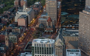 Картинка вид, церковь, Boston