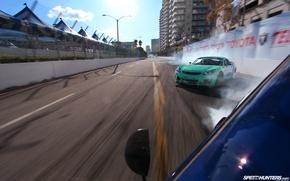 Обои машины, гонка, дрифт