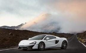 Картинка белый, McLaren, суперкар, white, автомобиль, auto, 570GT
