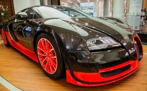 Обои bugatti veyron, veyron, автосалон
