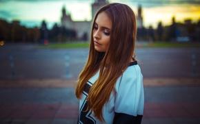Картинка Melisa, Sunset, Moscow, View, Lips, Hair, Nice, Russian. Model
