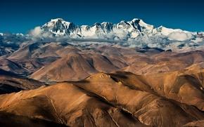 Обои облака, горы, китай, china, тибет, tibet, cho oyu, чо ойю