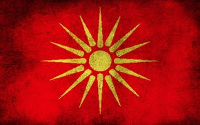 Обои Macedonian Flag, Macedonia, Flag, Macedonian Old Flag