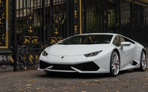Картинка Lamborghini, white, Huracán