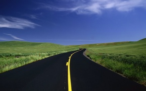 Картинка разметка, поля, 154, трава, дорога