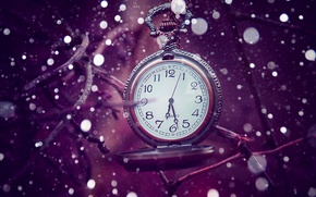 Обои time, bokeh, сиреневый, время, часы