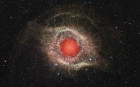Картинка космос, туманность, звёзды, Улитка, созвездие, NGC 7293