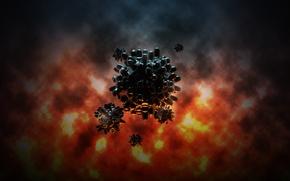 Картинка взрыв, креатив, графика, мины